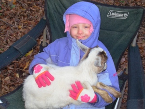 Meggie Fall O7' First Goat